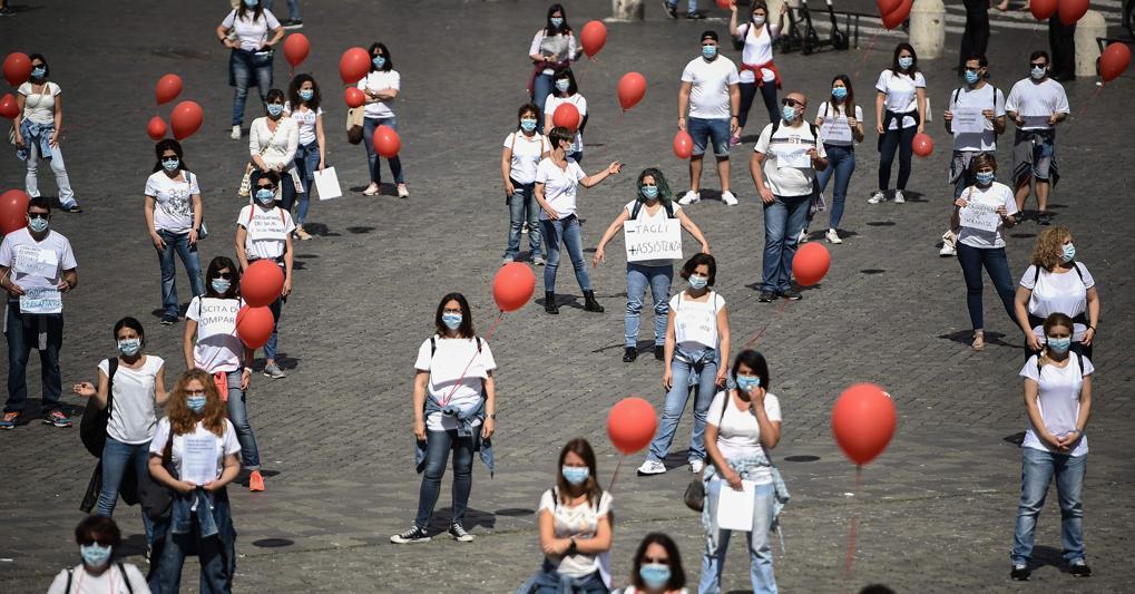 protesta infermieri Torino